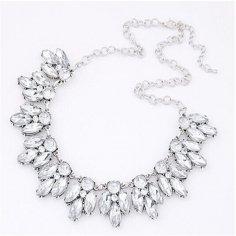 Silver Crystal halsband -...