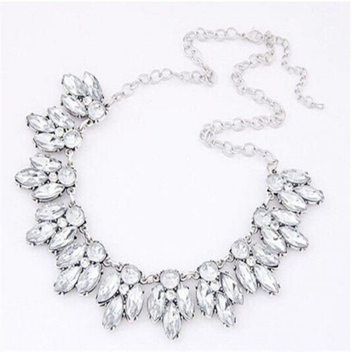 Silver Crystal halsband - necklace