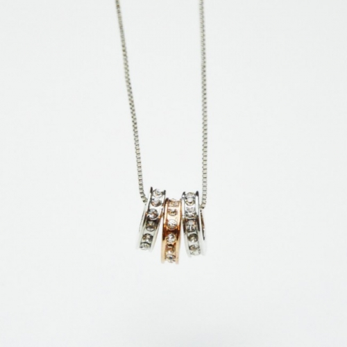 Silver and Golden Necklace - Triple...