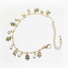Armband - Guldiga fyrklöver