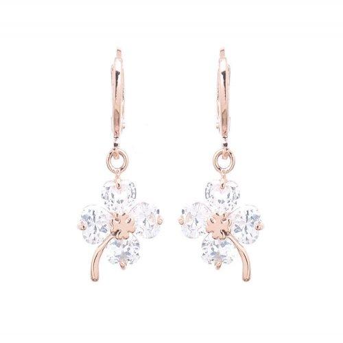 Crystal rose - örhänge
