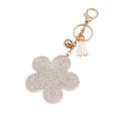 Silver rose nyckelring