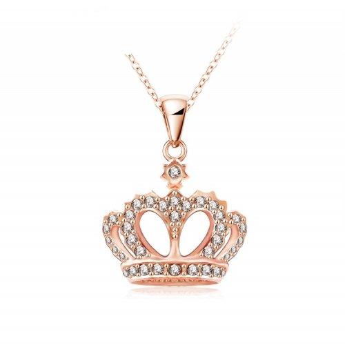Vackert halsband  Guldig Pendant Krona