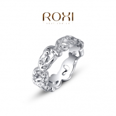 ROXI LUX RING - SILVER MED...