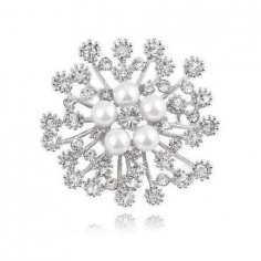 Blomma Formad Strass /...