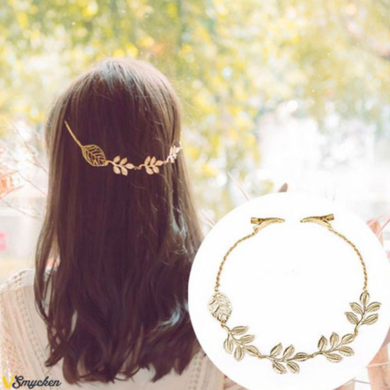 Leaf Hair Accessories Elegant Golden...