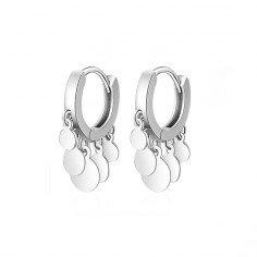 Äkta 925 silver Cirkulära-skivor Örhängen - billiga silver smycken
