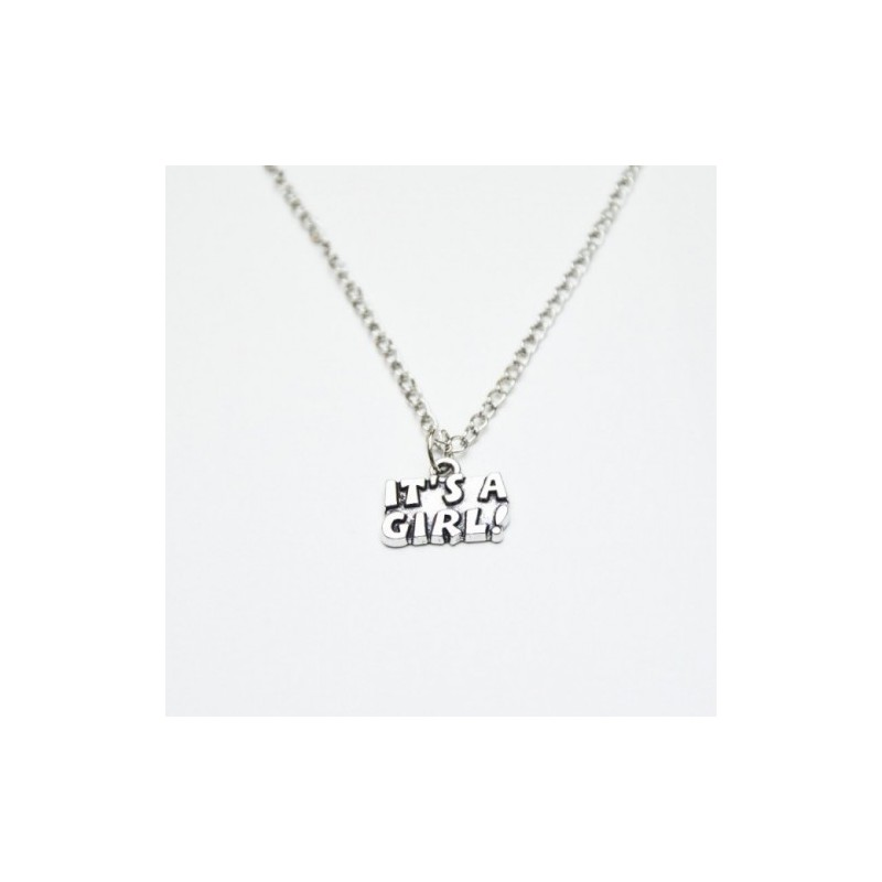 It's a girl - halsband Silver