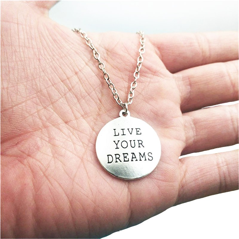 Live Your Dreams - Silver Halsband